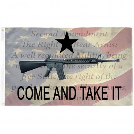 Come And Take It 2nd Amendment Patriotic 3' x 5' Polyester Flag