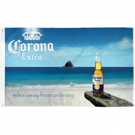 Corona Extra Miles Away 3' x 5' Polyester Flag