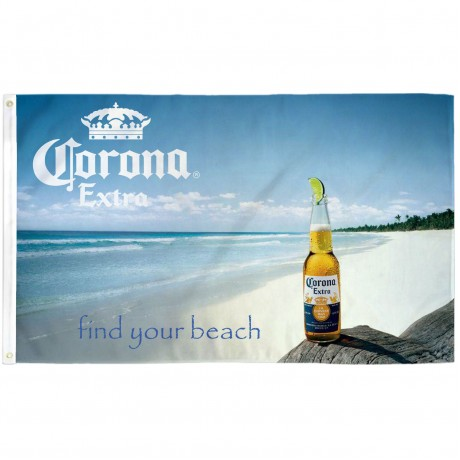 Corona Extra Find Your Beach 3' x 5' Polyester Flag