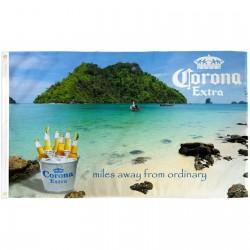 Corona Extra Miles Away Bucket 3' x 5' Polyester Flag
