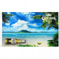 Corona Extra Separation Anxiety 3' x 5' Polyester Flag