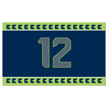 Seattle Seahawks 12th Man 3'x 5' NFL Flag
