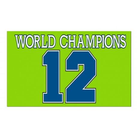 Seattle Seahawks World Champions 12th Man 3'x 5' NFL Flag