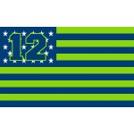 Seattle Seahawks USA Stars & Stripes 3'x 5' NFL Flag