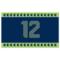Seattle Seahawks 12th Man 2'x 3' NFL Flag