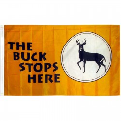 The Buck Stops Here 3' x 5' Polyester Flag