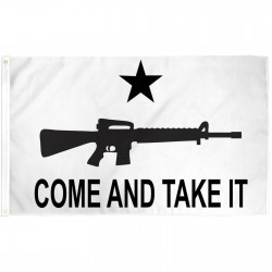 Come And Take It Carbine White 3' x 5' Polyester Flag