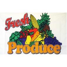 Fresh Produce 3'x 5' Advertising Flag