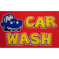 Car Wash Red 3' x 5' Polyester Flag