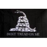 Don't Tread On Me Black & White 3'x 5' Flag