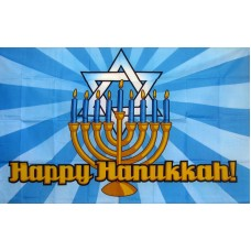 Happy Hanukkah 3' x 5' Polyester Flag