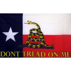 Don't Tread On Me Texas 3'x 5' Flag