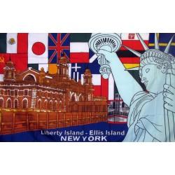 Liberty Island New York 3'x 5' Flag