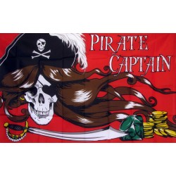 Pirate Captain Red with Gold 3'x 5' Pirate Flag