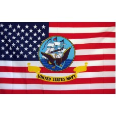 Navy USA 3'x 5' Economy Flag