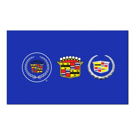 Cadillac Blue 3 Crests Historic Automotive 3' x 5' Flag