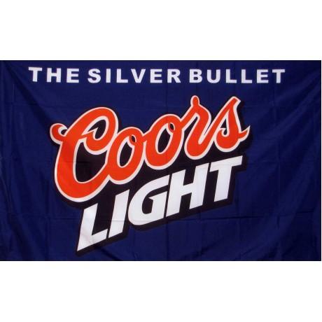 Coors Light Silver Bullet Blue 3' x 5' Flag