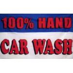 100% Hand Car Wash 3' x 5' Polyester Flag