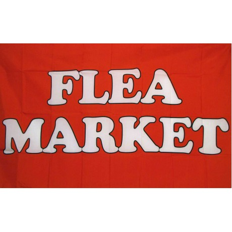 Flea Market Red 3'x 5' Business Flag