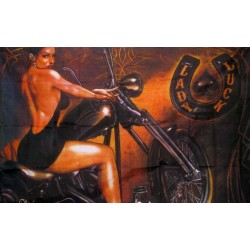 Lady Luck Biker 3'x 5' Flag