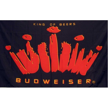 Budweiser King of Beers 3' x 5' Flag