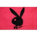 Playboy Bunny Black & Pink 3'x 5' Flag
