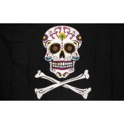 Sugar Skull and Crossbones 3' x 5' Polyester Flag