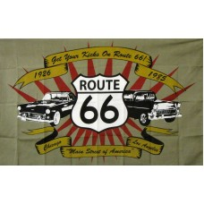 Route 66 3'x 5' Novelty Flag