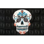Sugar Skull Teal 3' x 5' Polyester Flag