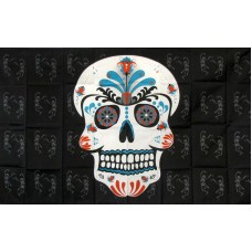 Sugar Skull Teal 3' x 5' Polyester Flag