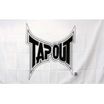 Tapout White 3'x 5' Flag
