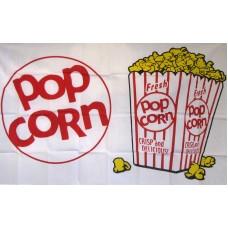 Popcorn 3'x 5' Advertising Flag