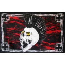 Iron Skull Red Black 3'x 5' Flag