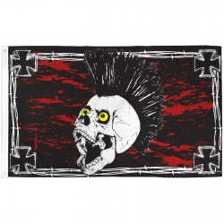 Iron Skull Red Black 3'x 5' Flag