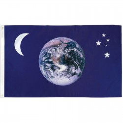 Earth Moon & Stars 3'x 5' Flag