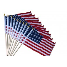"10 pack of 8"" x 12"" USA Stick Flags"