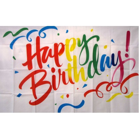 Happy Birthday Confetti 3'x 5' Polyester Flag