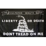 Don't Tread On Me Culpeper Black 3' x 5' Flag