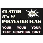 Custom 5' x 8' Polyester Flag Single Sided