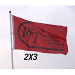 Custom 2' x 3' Polyester Flag 1-Sided