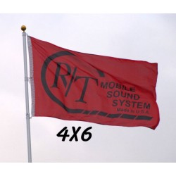 Custom 4' x 6' Polyester Flag Single Sided