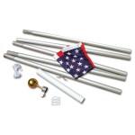 20' Aluminum Flag Pole with 3'x 5' American Flag