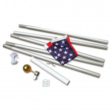 20' Aluminum Flag Pole with 3'x 5' American Flag