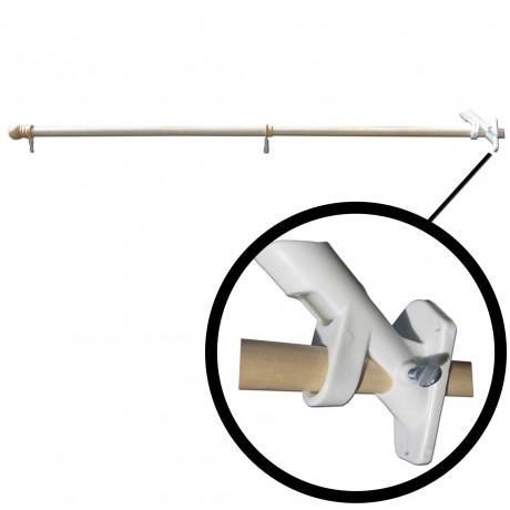 5' Wood Flag Or Banner Pole