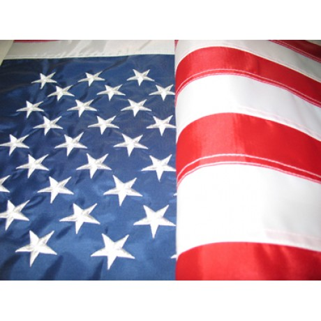 4'x6' Nylon Embroidered American Flag