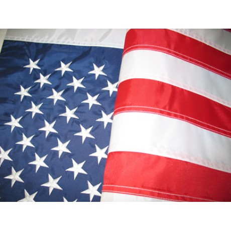 8'x12' Nylon Embroidered American Flag