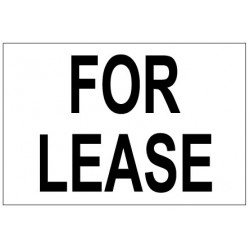 For Lease Real Estate Banner Sign 2'x3'