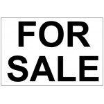 For Sale Real Estate Banner Sign 2'x3'