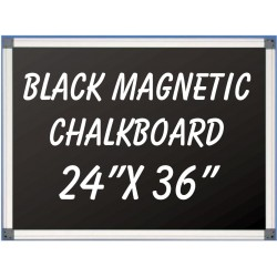 """24"""" x 36"""" Aluminum Framed Magnetic Black Chalkboard"""