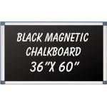 """36"""" x 60"""" Aluminum Framed Magnetic Black Chalkboard"""